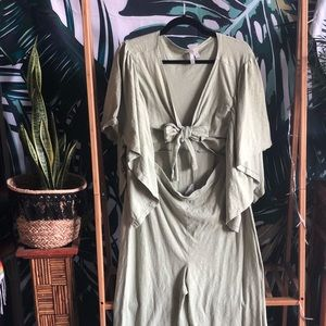 NEW ASOS Kimono Jumpsuit with Cutout & Tie Front!